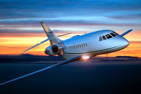 Falcon 2000 Private Jet Hire