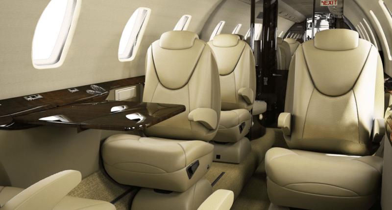 Intérieur jet privé Citation Excel - AEROAFFAIRES