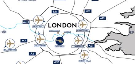 ou se trouve les différents aéroports de Londres?