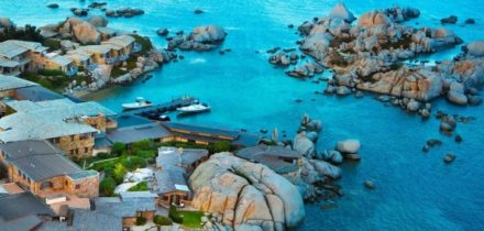 Private jet and helicopter rental in Cavallo Island