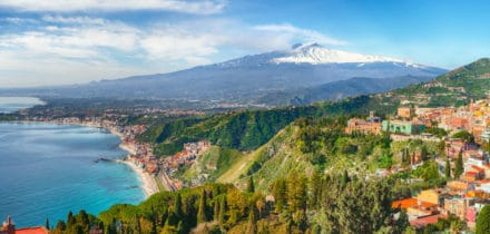 Private jet and helicopter rental in Taormina